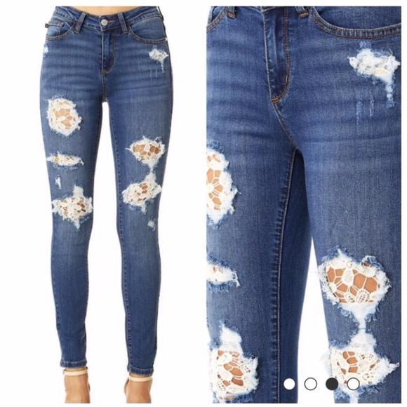 3503bb9b61 Judy Blue Jeans | Lace Patch Size 1532 | Poshmark